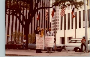Protesting in Houston