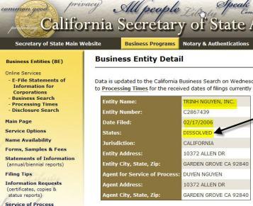 Ca Secretary of State