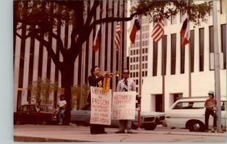 Protesting in Houston