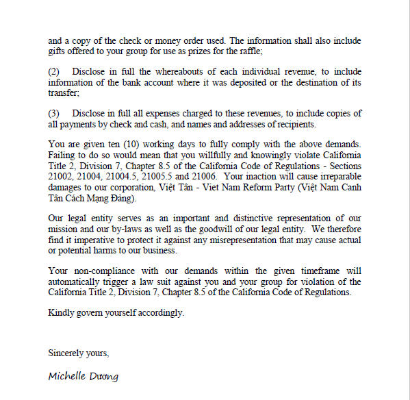 Letter to BTC2